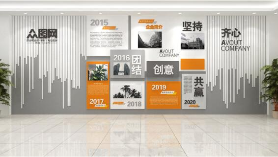 企业办公室文化墙