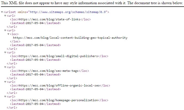 如何创建XML网站地图